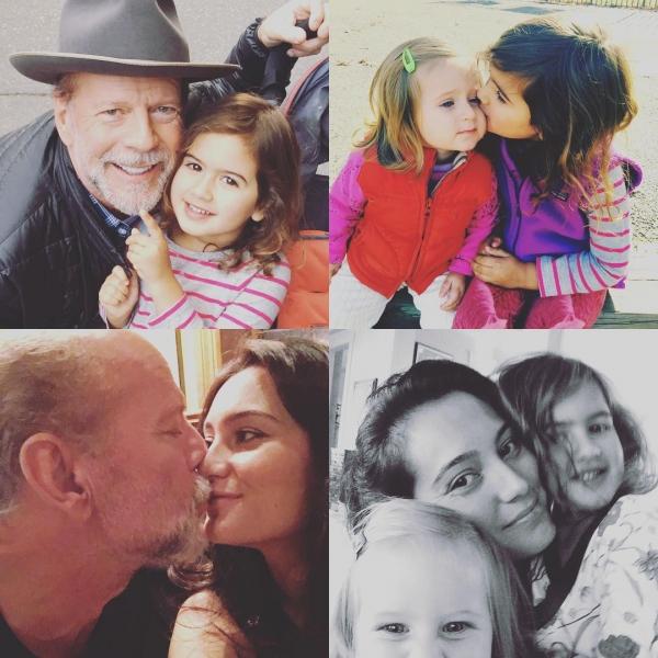 Заботливый и нежный папа ПЯТИ дочек Брюс Уиллис показывает свою большую семью