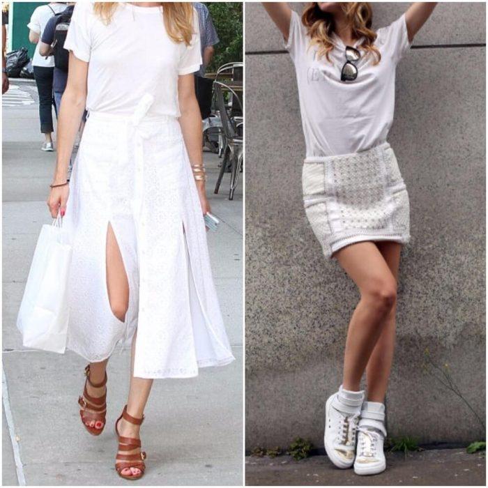 Белая футболка: с чем носить, чтобы выглядеть стильно. Семь образов...