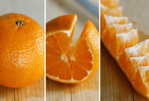 Как почистить апельсин за десять секунд. Быстро и красиво!
