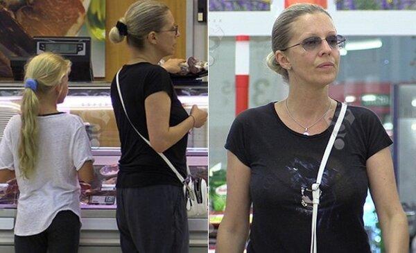 Наталья во время шоппинга вместе с дочерью