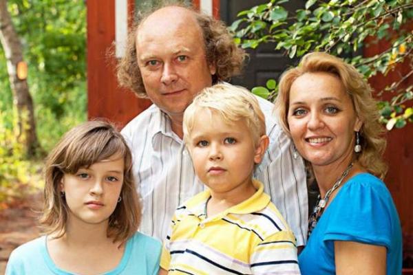 Татьяна Проценко с семьей