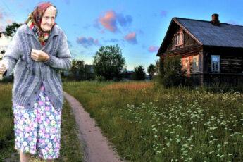 Это была торопливая старушка с узловатыми от полувекового труда руками, с глазами, грустно застывшими и робкими. Июньская жара и дальний путь иссушали остатки ее дряхлых сил, но она с упорством, настоятельным и сосредоточенным, шагала по пыльной дороге, полегонечку тюкая впереди себя сучковатой палкой.