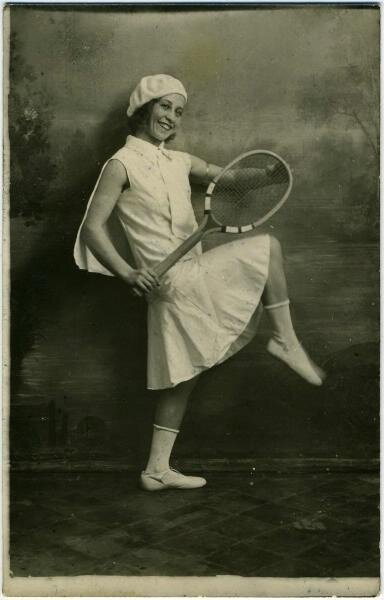 «Я играю в теннис» Неизвестный автор, 1920-е, МАММ/МДФ.