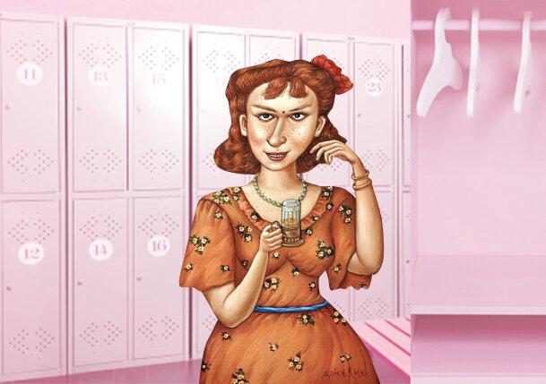 В коллаже использован персонаж картины Анжелы Джерих