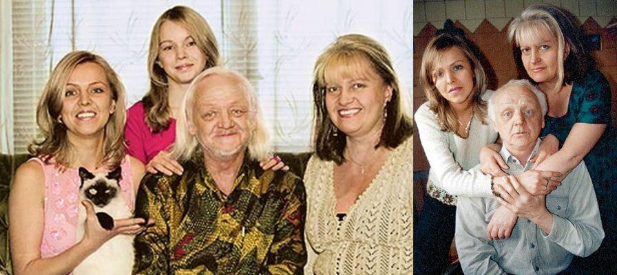 с женой, дочкой и внучкой