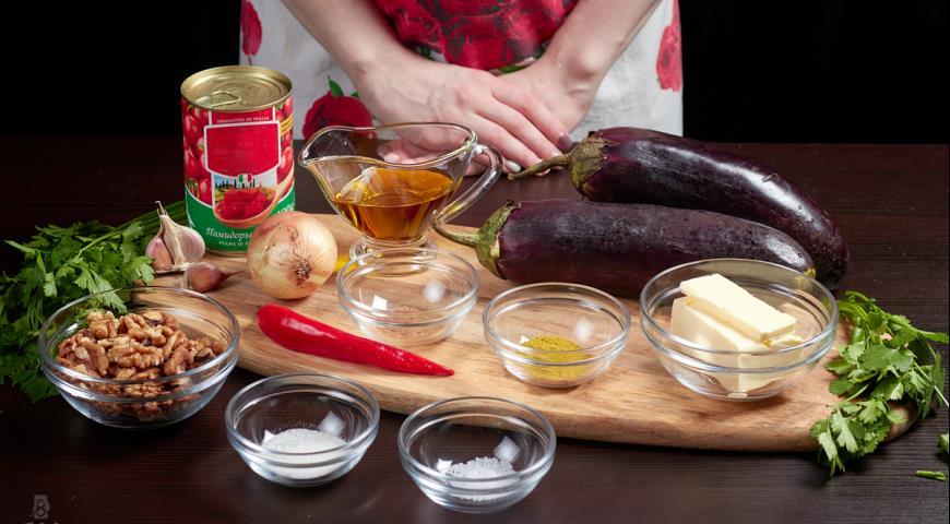 Фото приготовления рецепта: Баклажаны по-грузински, шаг №1