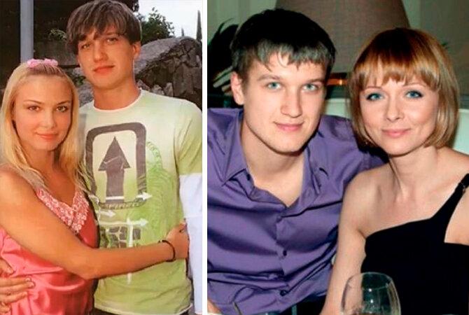 Анатолей Руденко. Слева с Татьяной Арнтгольц. Справа с Дарьей Поверенновой