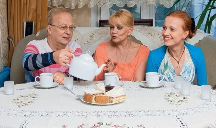 Ирина Шевчук с мужем и дочкой