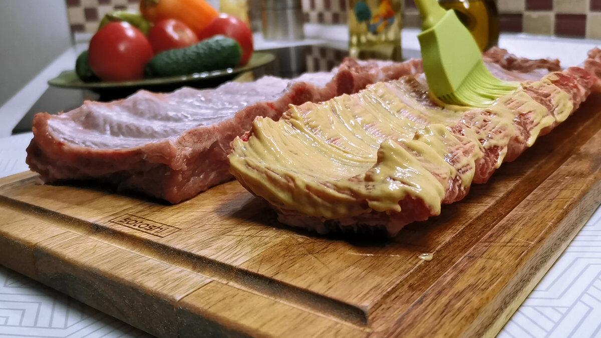 Смазала горчицей и в духовку. Как я готовлю мягкие свиные ребрышки без соли, перца и дополнительных приправ (делюсь рецептом)